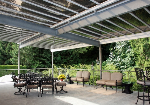 Galvanized Steel Pergola with Stainless Steel Uprights