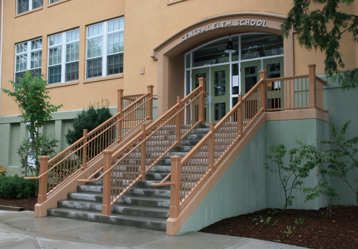 Central Elementary Stair Railing