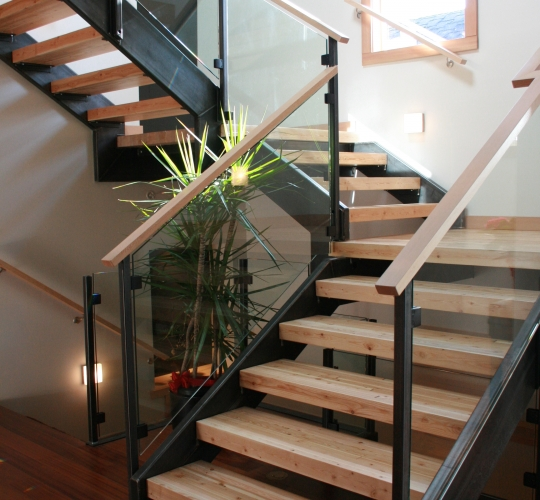 Steel Stair Stringers & Handrail Uprights White Rock