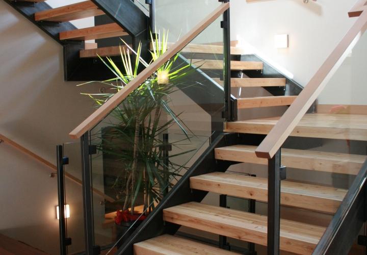 Steel Stair Stringers & Handrail Uprights White Rock