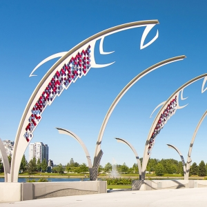 Architectural Fish – Town Centre Park, Coquitlam B.C