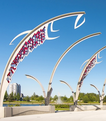 Architectural Fish – Town Centre Park, Coquitlam B.C